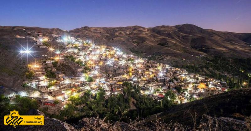 فضای رویایی روستا در شب