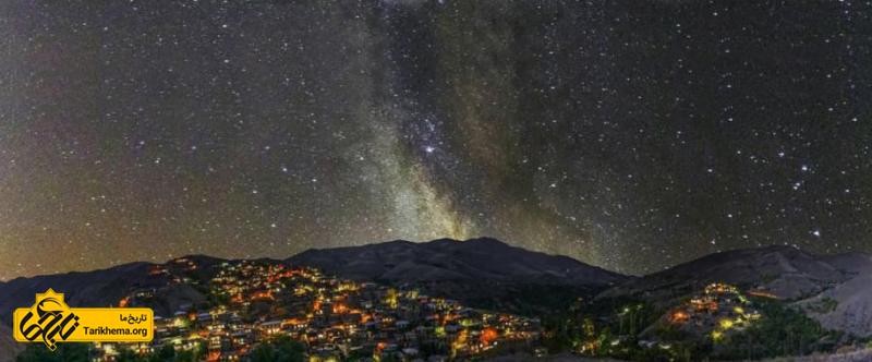آسمان پر ستاره روستای کنگ
