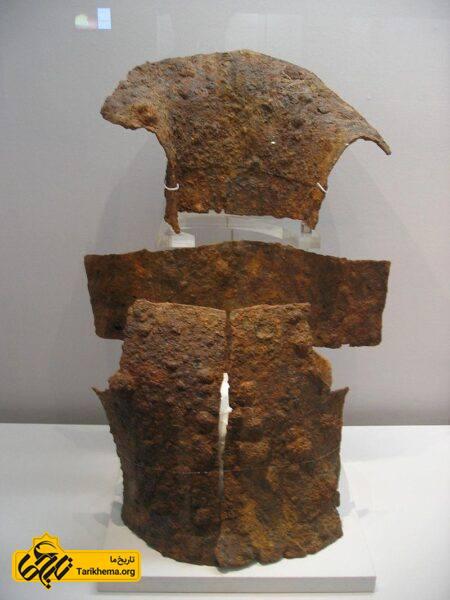 زره و محافظ گردن در دوره آهن ، موزه ملی کره