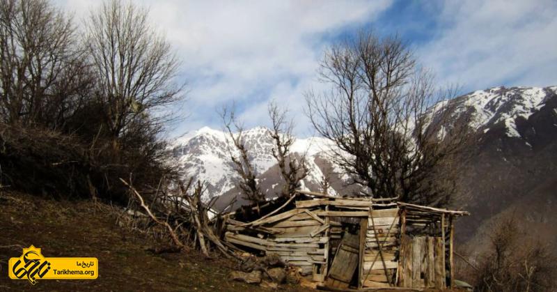 طبیعت زیبای زمستانی روستای ناتر
