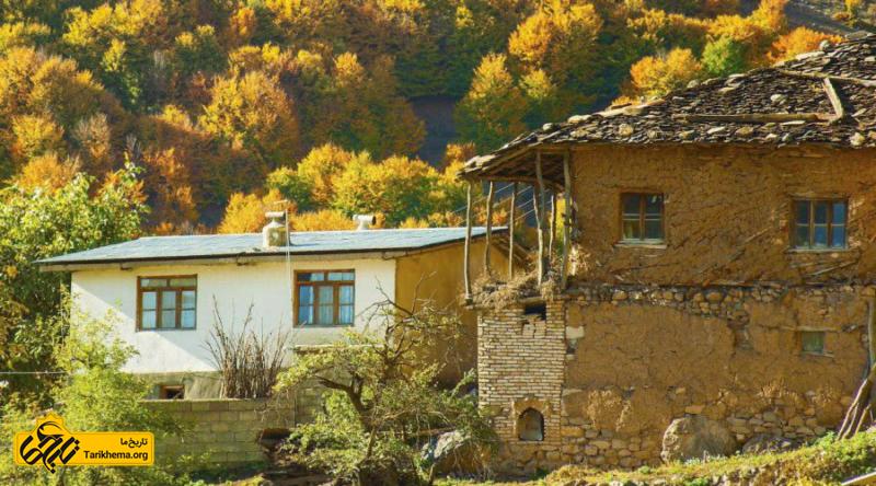 خانه های قدیمی در روستای ناتر