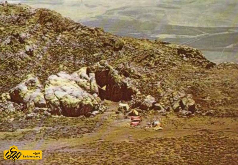 تصاویر قدیمی ثبت شده از غار پرآو کرمانشاه