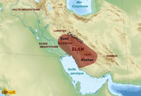 تمدن ایلام در مرزبندیهای جغرافیایی امروز