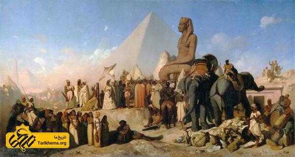 دیدار کمبوجیه و پسامتیخ سوم آخرین فرعون دودمان بیست و ششم مصر
