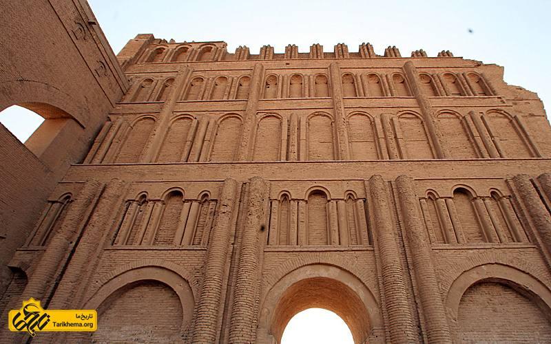 عکس ایوان طاق کسری به عرض ۲۵متر پس از پل گاومیشان در ایران، عریضترین طاق معماری باستان است arch-deficit Tarikhema.org