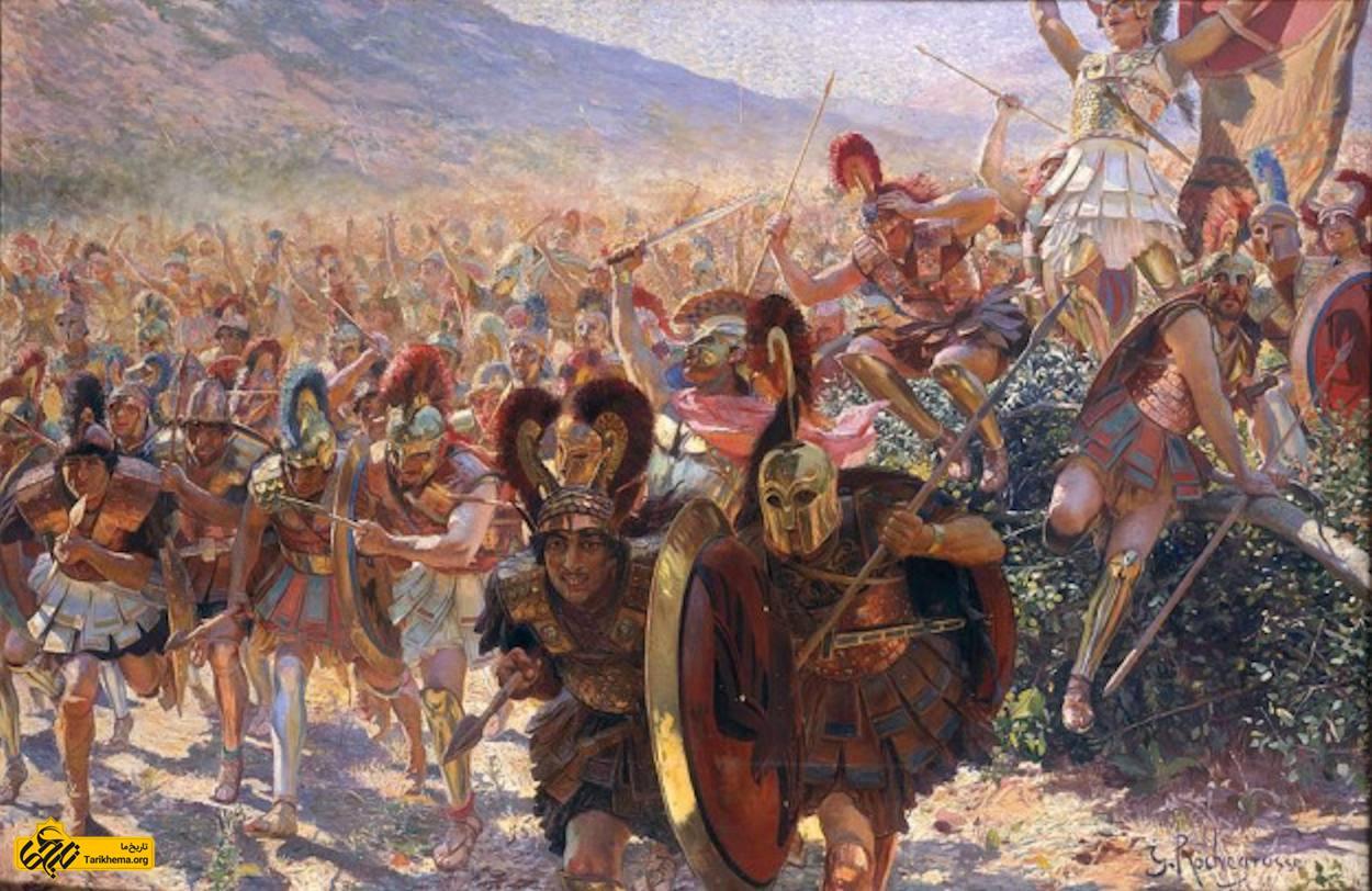 عکس هجوم سربازان یونانی در نبرد ماراتن ، توسط جورج روچگرس1859 %d9%86%d8%a8%d8%b1%d8%af-%d9%85%d8%a7%d8%b1%d8%a7%d8%aa%d9%86-%d9%88-%d8%af%d8%b1%d9%88%d8%ba-%d8%a8%d8%b2%d8%b1%da%af-%db%8c%d9%88%d9%86%d8%a7%d9%86%db%8c%e2%80%8c%d9%87%d8%a7 Tarikhema.org