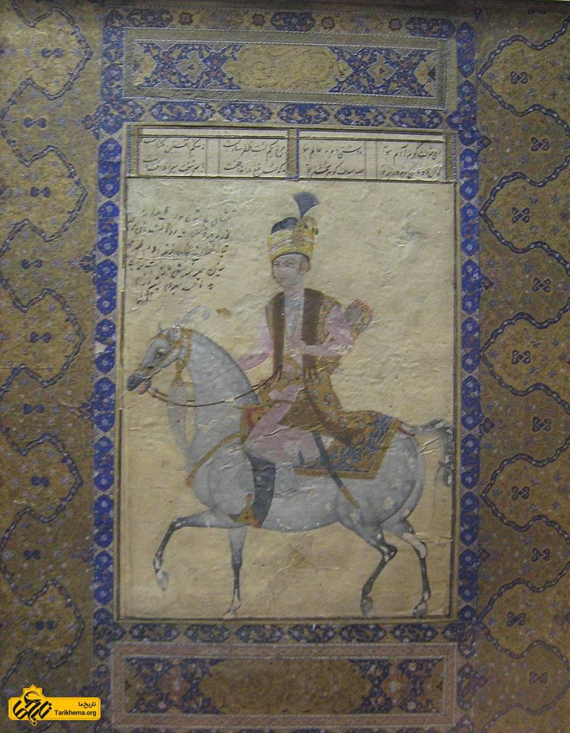 تصویر مینیاتور از لطفعلیخان، قرن هجدهم، موزه ملی ایران