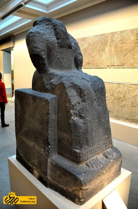 مجسمه خدای کیدودو، روح نگهبان دیوار شهر آشور. حدود 835 قبل از میلاد.  موزه بریتانیا، لندن