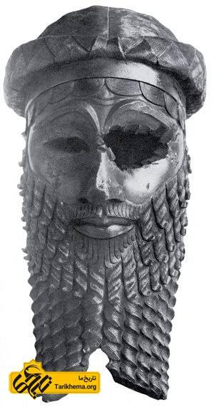 مجسمه سر یک اکدی در موزه ملی عراق