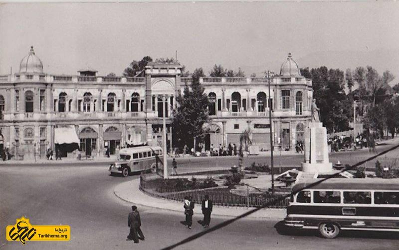 عکس قدیمی میدان حسن آّباد تهران