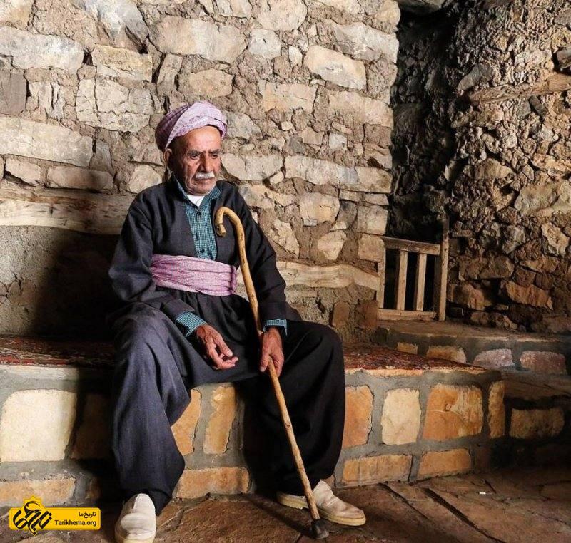مرد کهنسال روستای هجیج