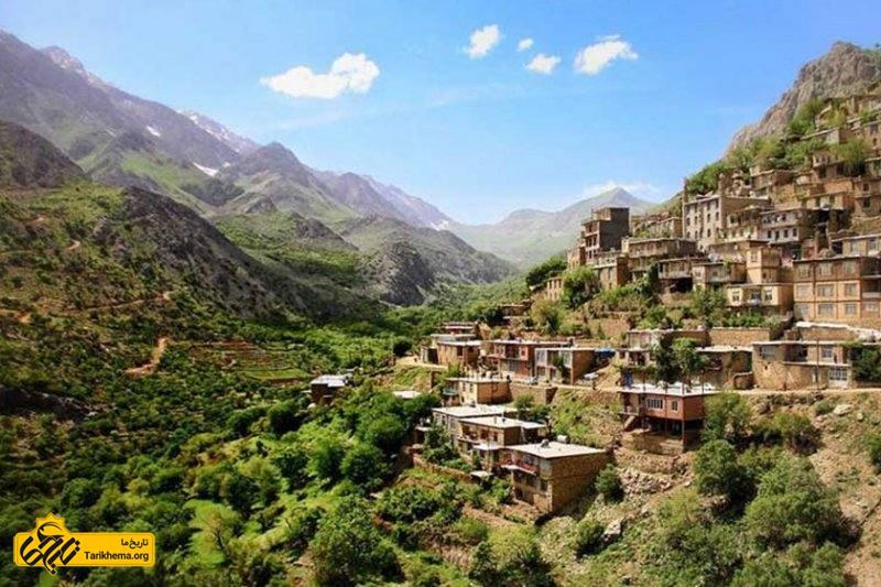 روستای پلکانی هجیج در کرمانشاه