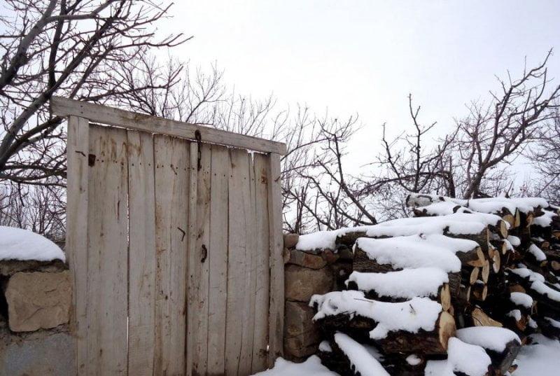 روستای زنوزق در زمستان