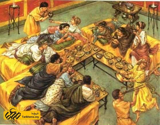 غذای ثروتمندان در روم باستان