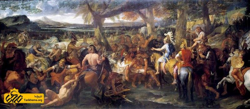 طرحی از اسکندر در حین نبرد از شارل لبرون