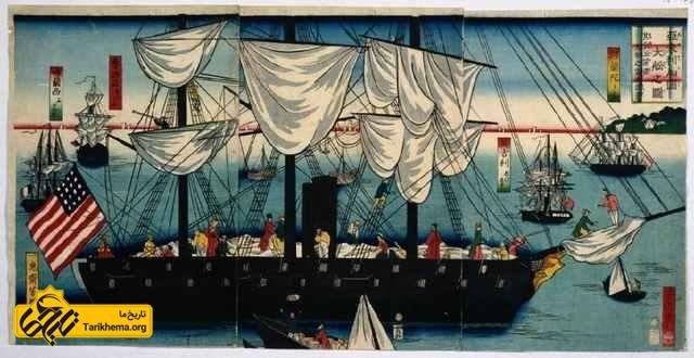 کشتی های امریکایی در ژاپن