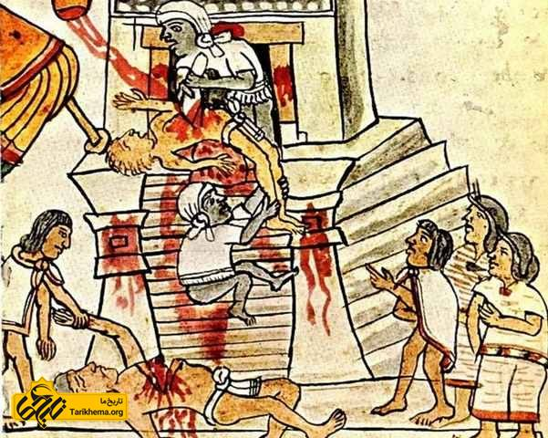 مراسم قربانی کردن انسان