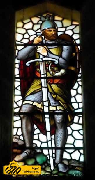 تصویر رنگ آمیزی شده ویلیام والاس بر روی شیشه