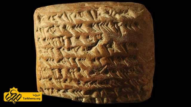 لوح بابلی که مسیر مشتری را نشان می دهد