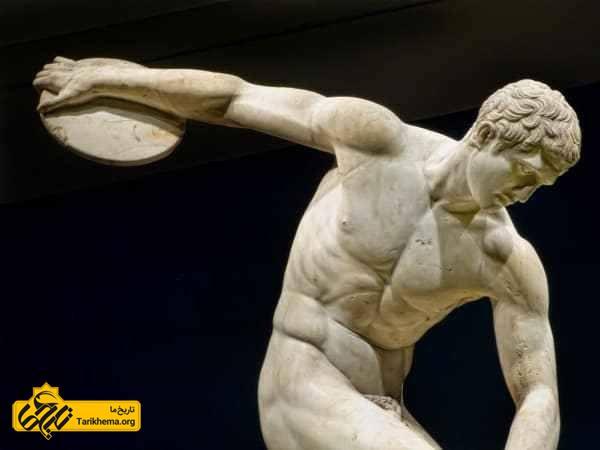 پرتاب دیسک در بازی های المپیک یونان