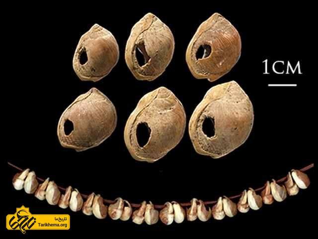 مهره های صدفی باستانی