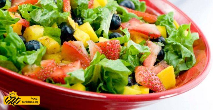 استفاده از غذای مفید و سالم