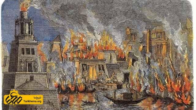 سوزاندن کتابخانه اسکندریه