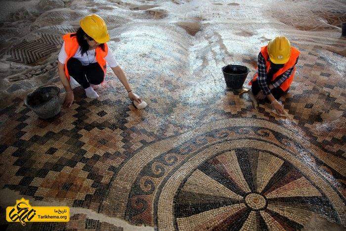 بزرگترین اثر موزاییکی باستانی جهان در ترکیه