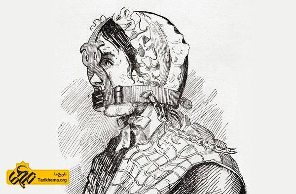 تنبیه وحشیانه زنان پرحرف و غرغرو در قرون وسطی