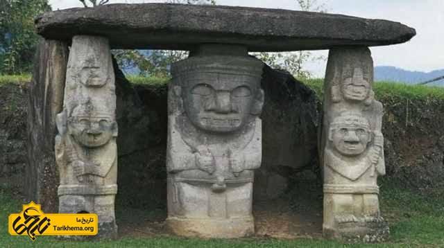 مجسمه های نگهبان در سن آگوستین