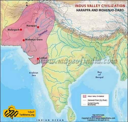 نقشه تمدن دره سند