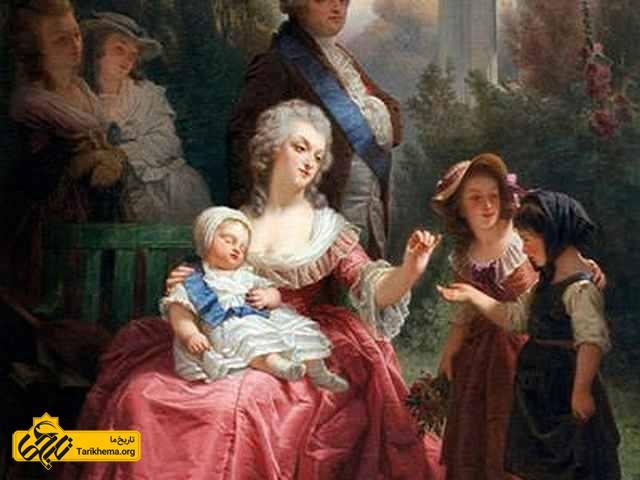لوئیس و ماری در باغ ورسای فرانسه