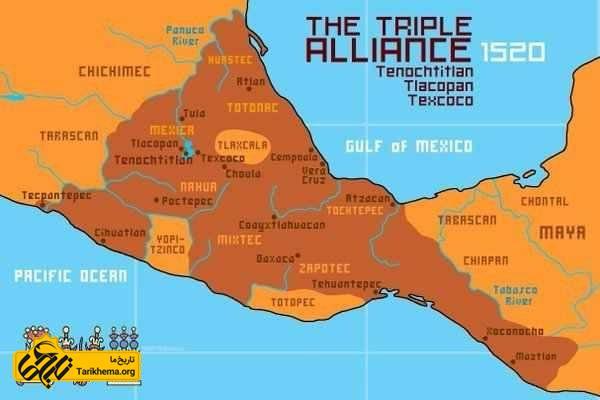 نقشه امپراطوری آزتک