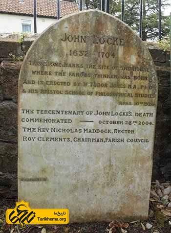 تاریخ تولد جان لاک روی سنگی در رینگتون