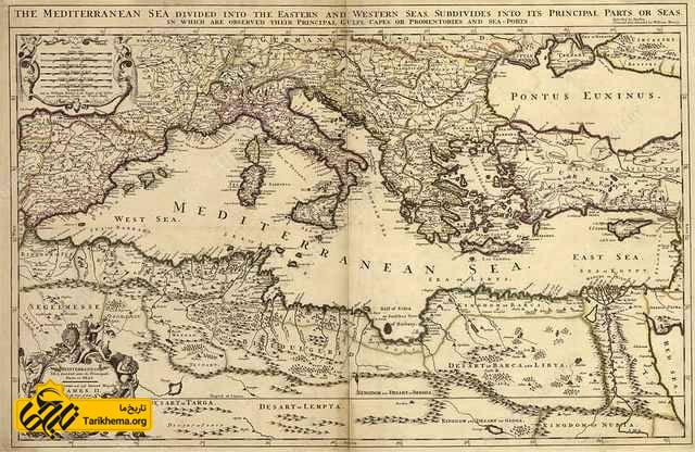 نقشه قرن 17 کاندیا
