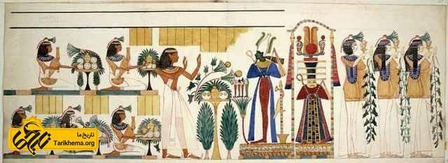 بخشی از نقاشی دیواری مقبره دهم گورنا