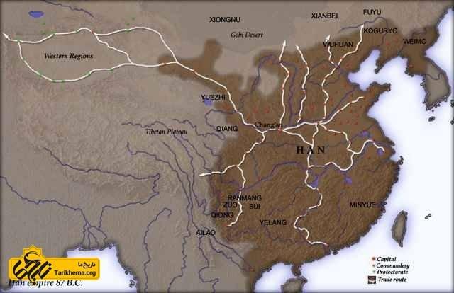 امپراطوری سلسله هان در 87 ق.م