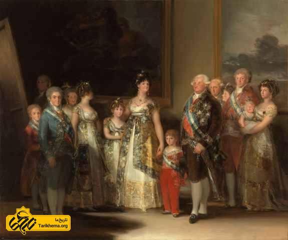 تصویر خانواده چارلز چهارم