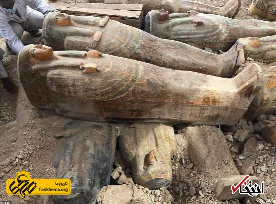 کشف ۲۰ تابوت چوبی باستانی در مصر