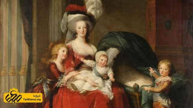 ماری آنتوانت، ملکه فرانسه با فرزندانش