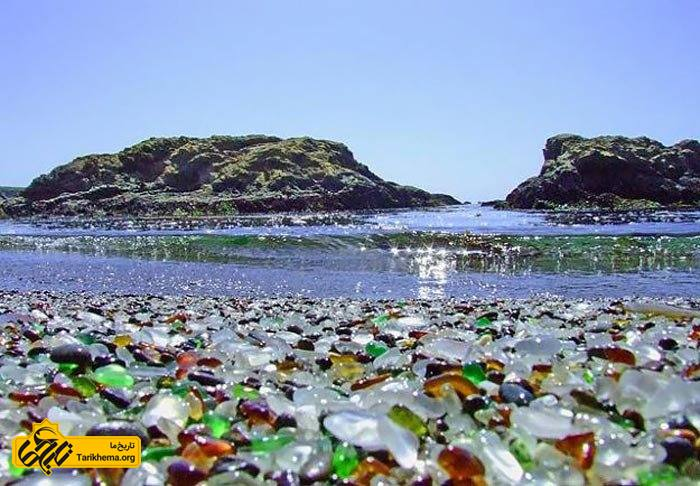 ساحل شیشهای کالیفرنیا