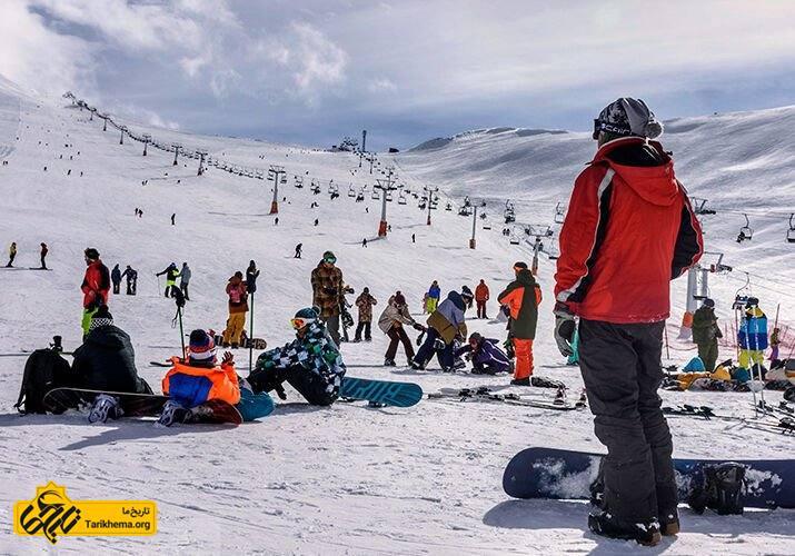 اسکی سواری در پیست اسکی توچال