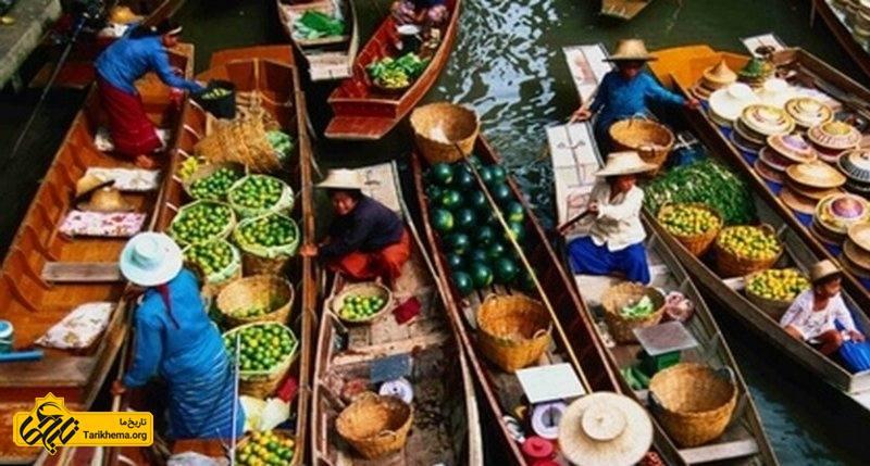 بهترین بازارهای آبی بانکوک