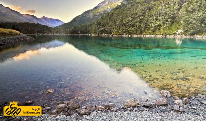 دریاچه آبی نیوزلند