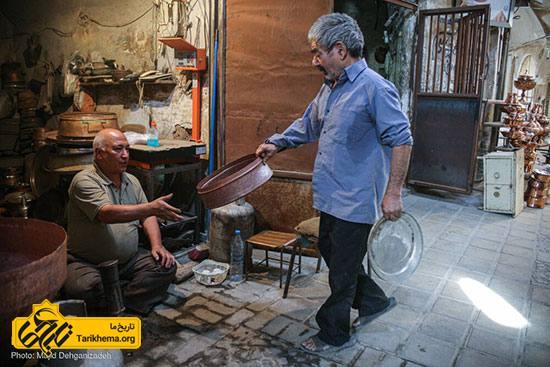 هنر مسگری در بازار سنتی یزد