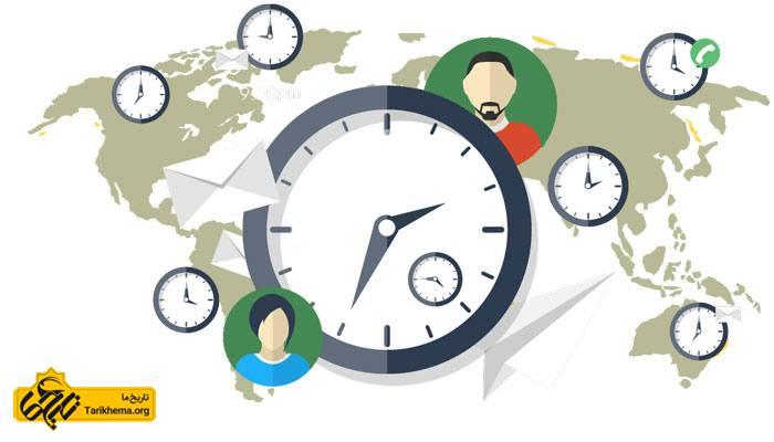 اختلاف ساعت ایران با کشورهای مختلف