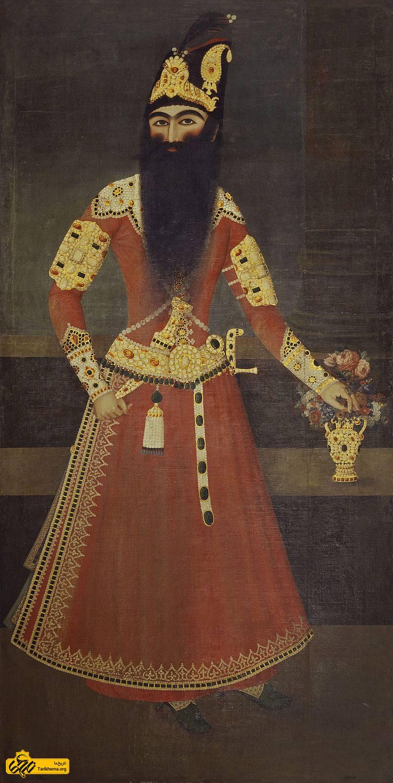 نگاره فتحعلیشاه اثر عبدالله خان نقاشباشی، محل نگهداری این اثر موزه ویکتوریا و آلبرت در لندن است.