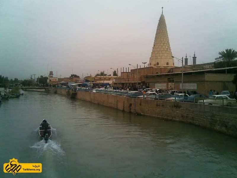 آرامگاه دانیال نبی در کنار قایقرانی در رودخانه های خوزستان