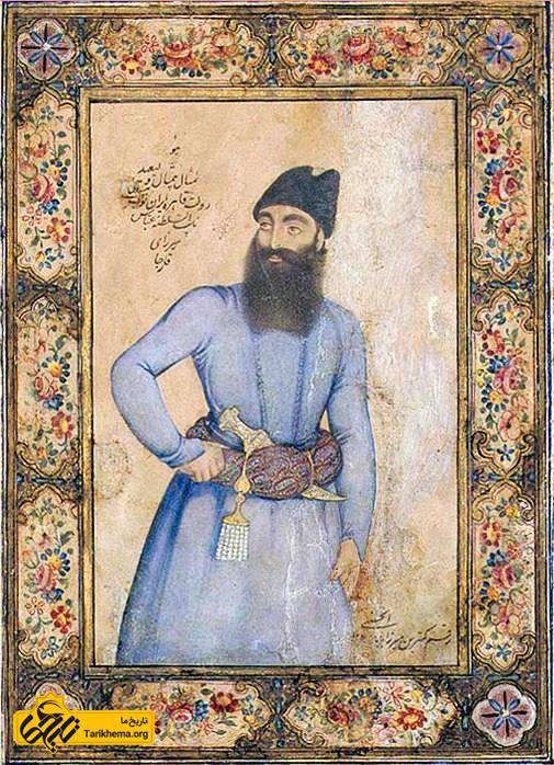 شاهزاده عباس میرزا نایبالسلطنه. اثر میرزا بابا حسینی. ۱۲۱۸ ه. ش