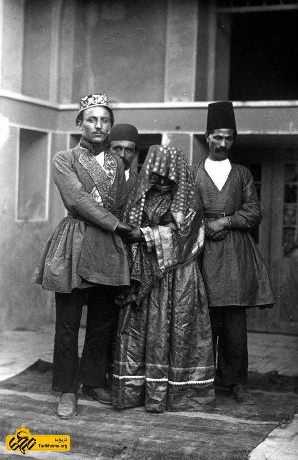 عروس و داماد قاجاری